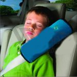 Подушка Sotra на ремень безопасности (текстиль, холлофайбер) 30х11см , синяя HO 07-00030