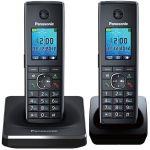 Телефон, Panasonic Dect (черный, 2 трубки) KX-TG8552RUB