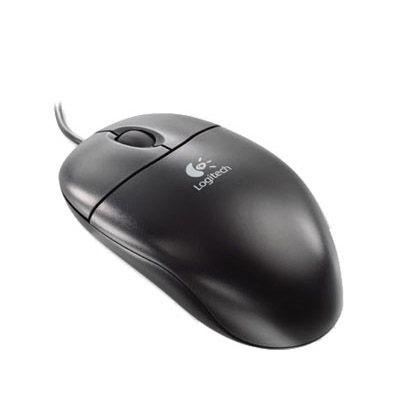 Мышь проводная Logitech SBF96 Optical Wheel Mouse PS/2 Black 953688-1600