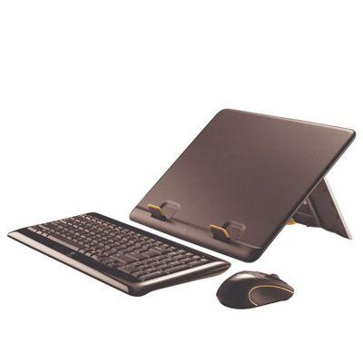 Комплект Logitech беспроводная Мышь + Клавиатура и подставка Notebook Kit MK605 939-000235