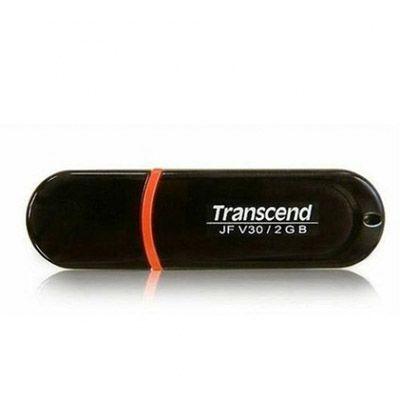 Флешка Transcend 2Gb JetFlash V30 Black TS2GJFV30