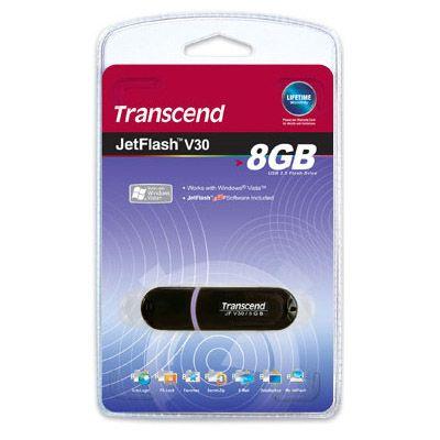 ������ Transcend 8Gb JetFlash V30 Black TS8GJFV30