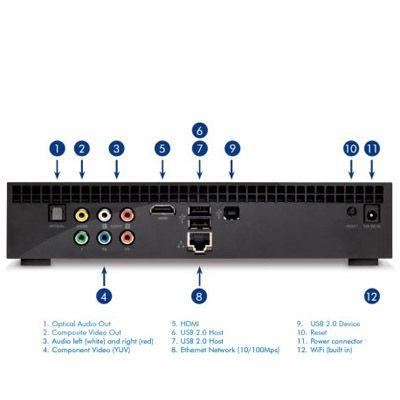 Внешний жесткий диск LaCie LaCinema Black Play Media Player 1000Gb 301488EK