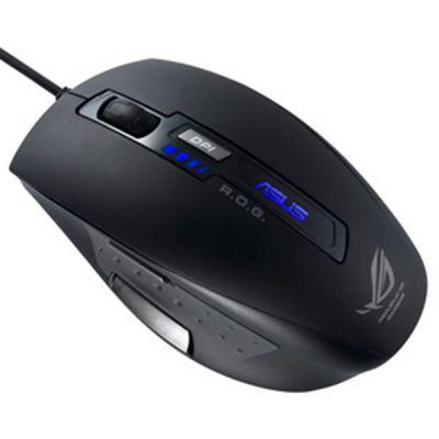 Мышь проводная ASUS GX800 Laser USB Black 5 buttons 90-XB1800MU00000-