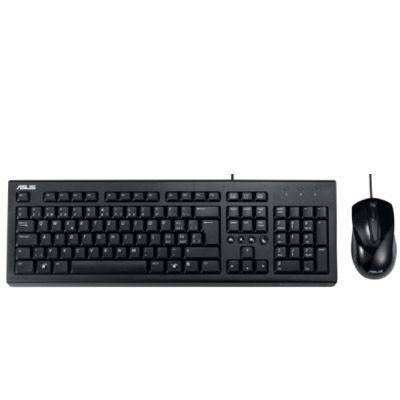 Комплект ASUS проводная Мышь + Клавиатура U2000 Black USB 90-XB1000KM00050-