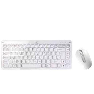 Комплект ASUS беспроводная Мышь + Клавиатура EEE White 90-XB0E00KM00160-