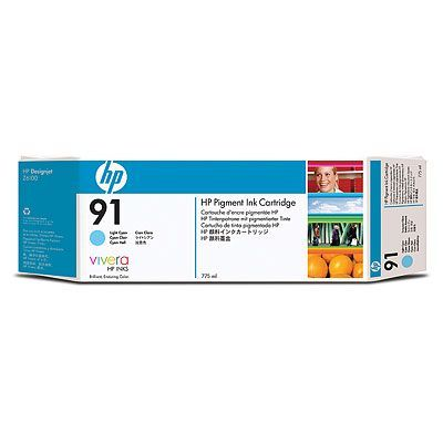 �������� HP 91 Light Cyan/������� ���� (C9470A)