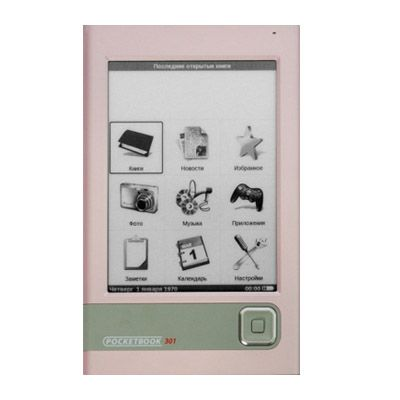 Электронная книга PocketBook 301 Plus Комфорт Pink sd 4GB