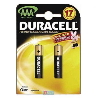 ��������� Duracell AAA 2 ��. LR03/MN2400