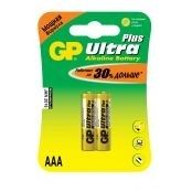 Батарейки GP ultra plus AAA 2 шт. 24AUP-CR2