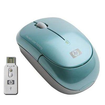 Мышь беспроводная HP Turquoise Wireless Laser Mini Mouse KS736AA