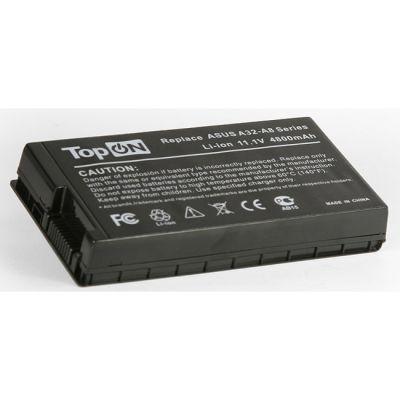Аккумулятор TopON для Asus A8 A8000 F8 F50 F80 F81 F83 Z99 X61 X80 X85 N80 N81 Series 4400mAh TOP-A8 /A32-A8