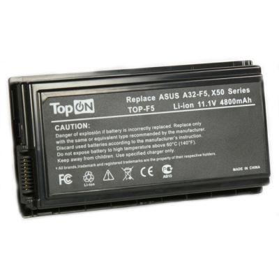 Аккумулятор TopON для Asus F5M F5N F5Sr F5Z F5RI F5SL F5VI F5VL X5 X50C X50M X50N X50RL X50SL X50VL Series 4400 mAh TOP-F5 / A32-F5