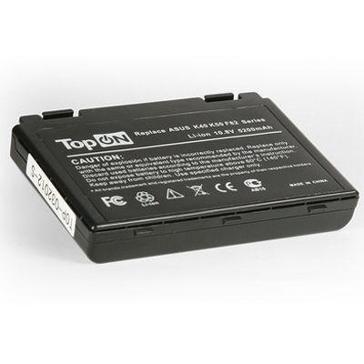 Аккумулятор TopON для Asus K40 K50 K51 K60 K61 K70 P50 P81 F52 F82 X65 X70 X5 X8 Series 4400mAh TOP-K50 / A32-F82
