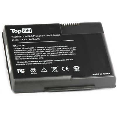 Аккумулятор TopON для HP Compaq Pavilion nx7000 ZT3000 ZT3200 ZT3400 Presario X1000, X1200, X1300 4800mAh TOP-NX7000 / DG103A