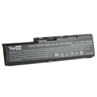 Аккумулятор TopON для Toshiba Satellite A70, A75, P30, P35 Series 7200mAh TOP-PA3383