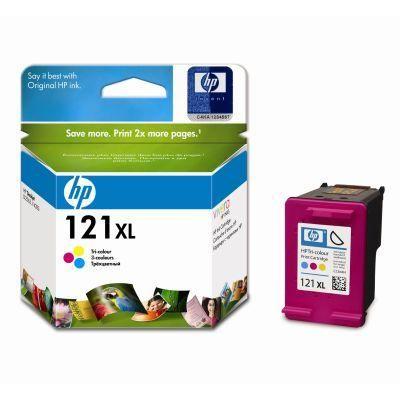Картридж HP 121XL Cyan / Magenta / Yellow - Зеленовато - голубой / Пурпурный / Желтый (CC644HE)