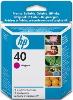 Расходный материал HP 40 Magenta Inkjet Print Cartridge 51640ME