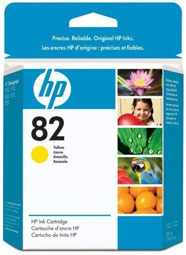 ��������� �������� HP 82 28-ml Yellow Ink Cartridge CH568A