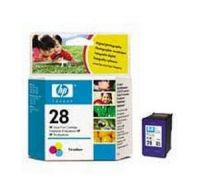 HP 28 Tri-Colour Inkjet Print Cartridge C8728AE
