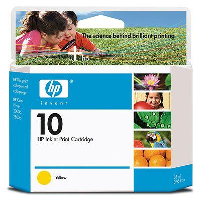Расходный материал HP 10 Yellow Ink Cartridge C4842A