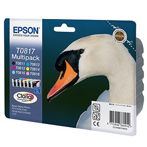 ��������� �������� Epson ����� �� 6 ���������� Multipack for R270/290/RX590 C13T11174A10