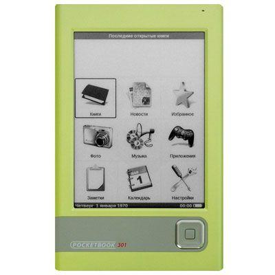 Электронная книга PocketBook 301 Plus Комфорт Green sd 4GB