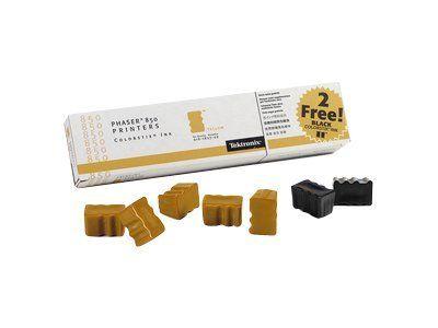 Расходный материал Xerox Phaser 850 Чернила твердые желтые (5шт. + 2шт. черные) 5,9К+2,3К 016182700