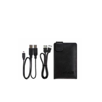 "Внешний жесткий диск ASUS 2.5"" 500Gb 5400rpm USB3.0 + esata Black leather ext + case Leather 2.5 ext HDD/5"