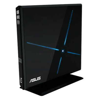 ASUS ������� ������ Blu-Ray ext, BD-RW+DVD-RW black ret. USB 2.0 SBW-06C1S-U/BLK/G/AS