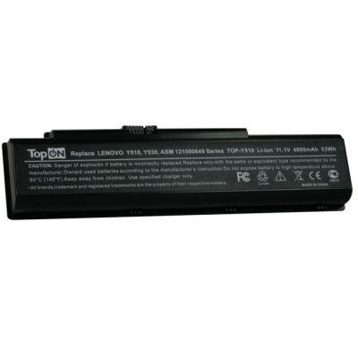 Аккумулятор TopON для Lenovo 3000 Y500 Y510a IdeaPad V550 Y510 Y530a Y710 Y730a Series 4400mAh TOP-Y510