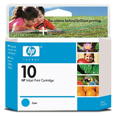 Расходный материал HP HP 70 2-pack 130-ml Light Cyan Ink Cartridges CB351A