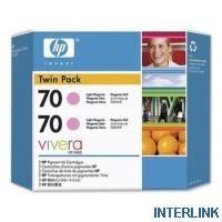 Расходный материал HP HP 70 2-pack 130-ml Magenta Ink Cartridges CB344A