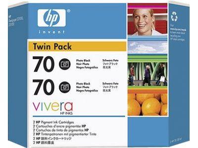 Расходный материал HP HP 70 2-pack 130-ml Photo Black Ink Cartridges CB340A