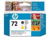 HP Печатающая головка 72 Matte Black/Yellow-Матовый Черный/Желтый (C9384A)