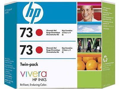 Расходный материал HP HP 73 2-pack 130-ml Chromatic Red Ink Cartridges CD952A