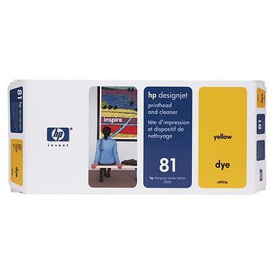 HP Печатающая головка 81 Yellow/Желтый (C4953A)