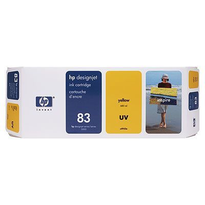 Картридж HP 83 Yellow/Желтый (C4943A)