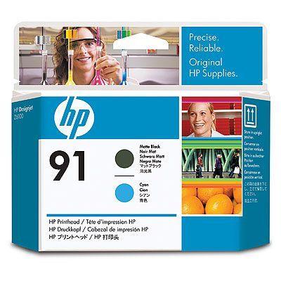 HP 91 Печатающая головка Matte Black/Cyan-Матовый Черный/Зеленовато - голубой (C9460A)