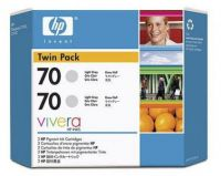 Расходный материал HP HP 70 2-pack 130-ml Grey Ink Cartridges CB341A