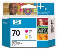 HP Печатающая головка 70 Magenta/Yellow - Пурпурный/Желтый (C9406A)