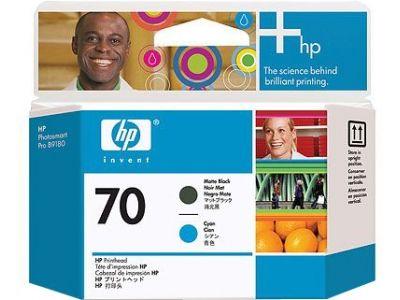 ��������� �������� HP HP 70 Matte Black and Cyan Printhead C9404A