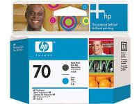Расходный материал HP HP 70 Matte Black and Cyan Printhead C9404A