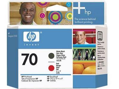 Печатающая головка HP 70 Matte Black/Red-Матовый Черный/Красный (C9409A)