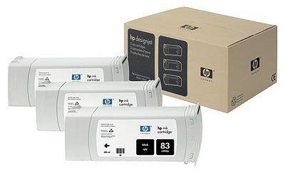 ��������� �������� HP HP 83 3-pack 680-ml Black uv Cartridges C5072A