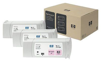 ��������� �������� HP HP 83 3-pack 680-ml Light Magenta uv Cartridges C5077A
