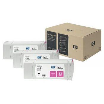 ��������� �������� HP HP 83 3-pack 680-ml Magenta uv Cartridges C5074A
