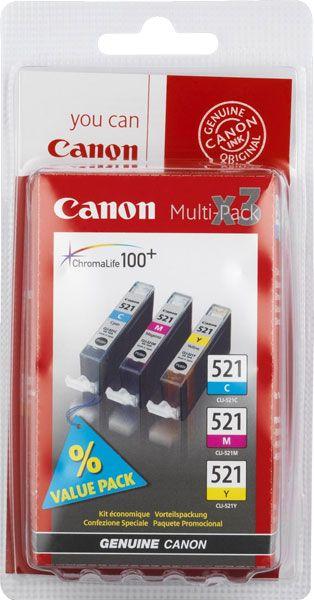 ��������� �������� Canon �������� Canon CLI-521 C/M/Y multipack 2934B007