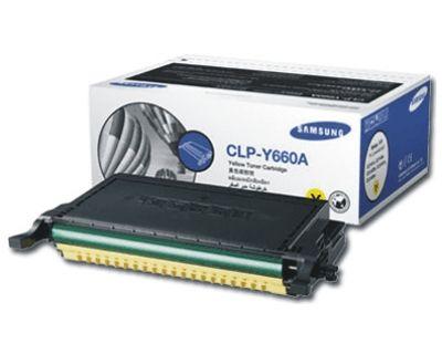 Расходный материал Samsung Желтый картридж CLP-Y660A
