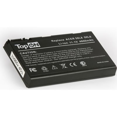 Аккумулятор TopON для Acer Aspire 3690, 5110, 5680 TravelMate 2490, 3900, 4200 Series 4400 mAh TOP-50L6 / BATBL50L6
